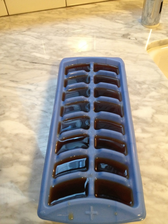 Coffee Ice Cube Tray - Filled
