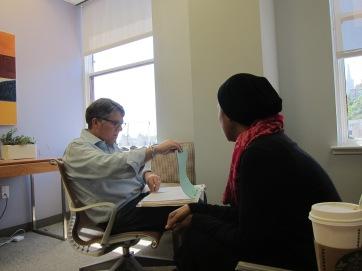Last chemo consult w Garrett