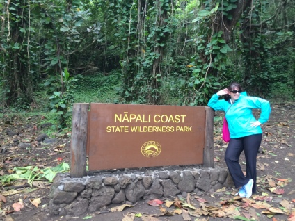 Lori at the trail head..