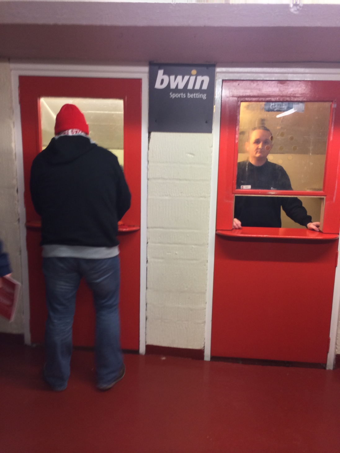 Betting window...inside Anfield