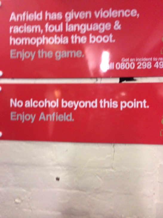 What!? No beer allowed in the stands..