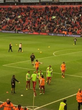 Reds warming up