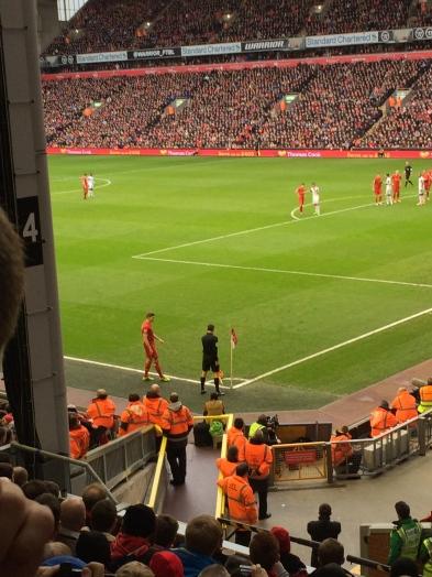 Gerrard takes a corner